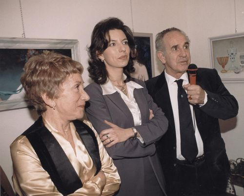 """Rossana Feudo, Laura Romano e Bruno Caruso all'inaugurazione della Personale """"Pittura segreta"""" , Galleria Elle Arte , Marzo 2000"""