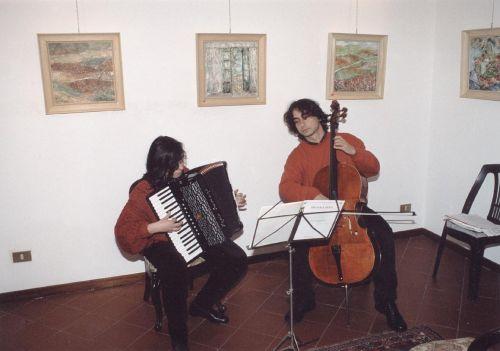 Maria Burderi e Robert Witt , concerto per violoncello e fisarmonica il 28 febbraio 2003