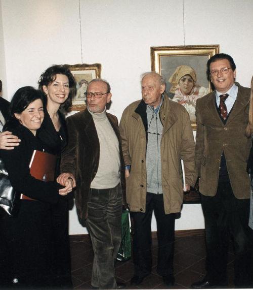 Ivana Bruno, Laura Romano,Piero Longo, Mario Luzi e Tommaso Romano all'inaugurazione della mostra dedicata alle opere di Luigi di Giovanni