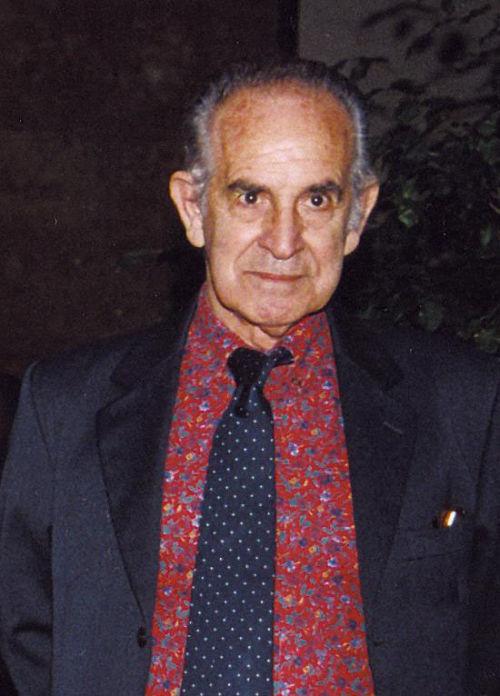 """Bruno Caruso all'inaugurazione della Personale """"Disegni 1944-2004"""", Palermo, Palazzo dei Normanni, 23 maezo 2004"""
